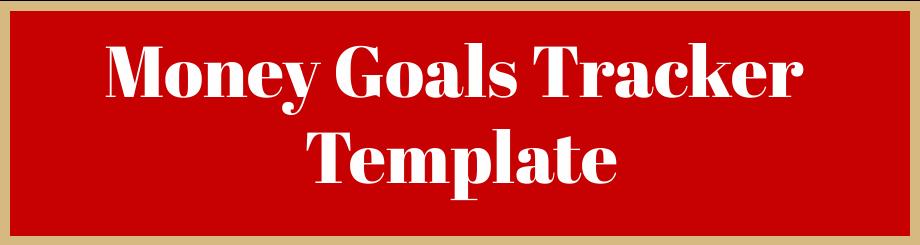 Money goals tracker template